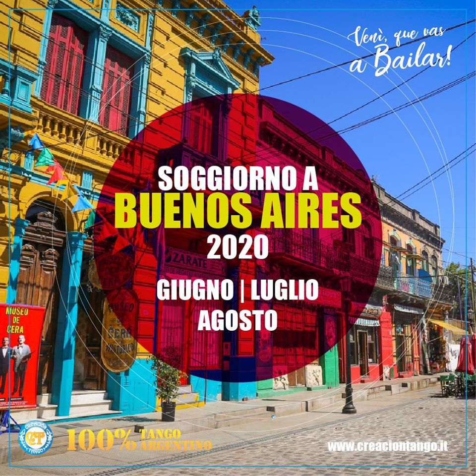 Soggiorno a Buenos Aires Estate 2020