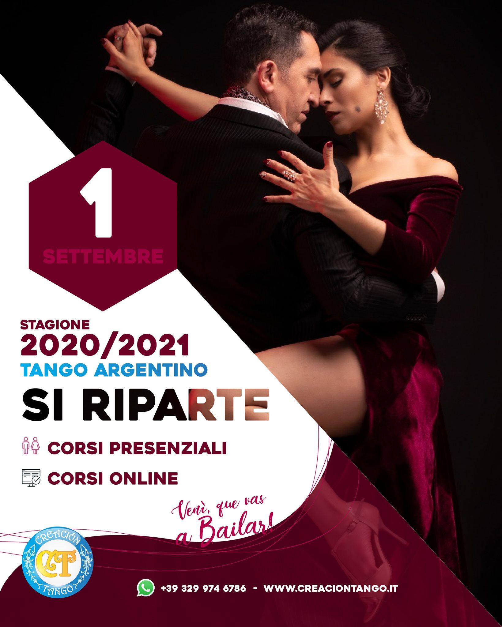 Inizio Nuova Stagione di Tango Argentino