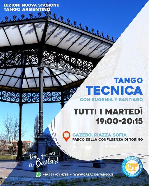 Nuove lezioni all'aperto a Torino con Creacion Tango