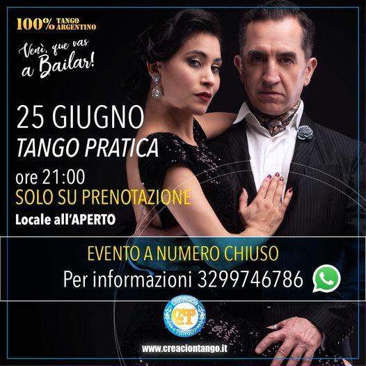 Tango Pratica all'aperto con Creacion Tango