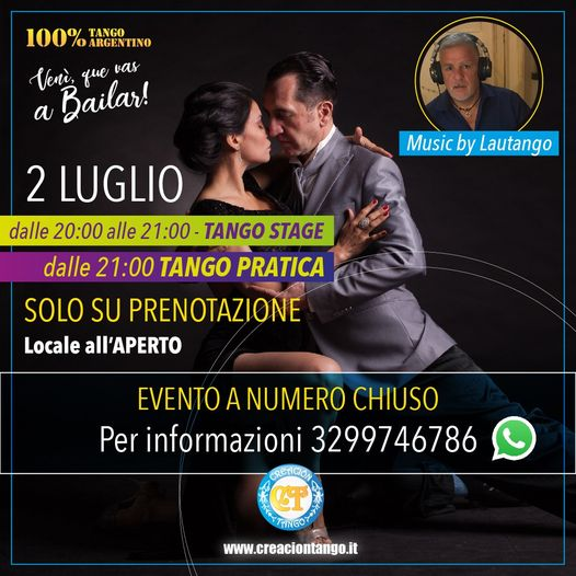 Stage e Pratica Tango: Venerdì 2 Luglio