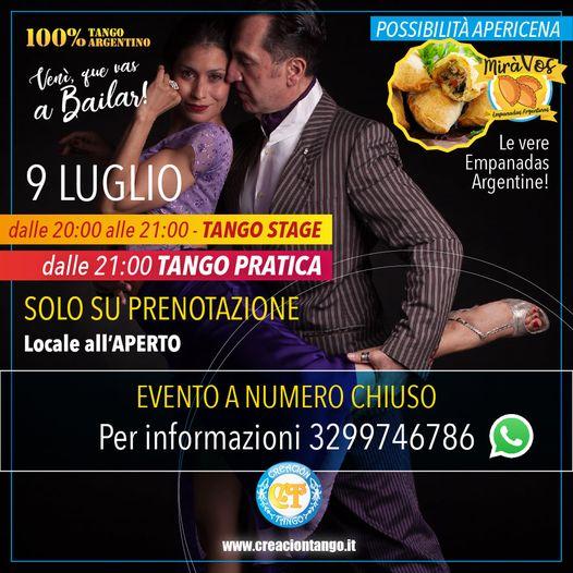 Tango pratica all'aperto con Creacion Tango Torino