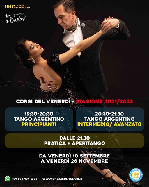 Corsi Tango del Venerdì per i mesi di Settembre, Ottobre e Novembre