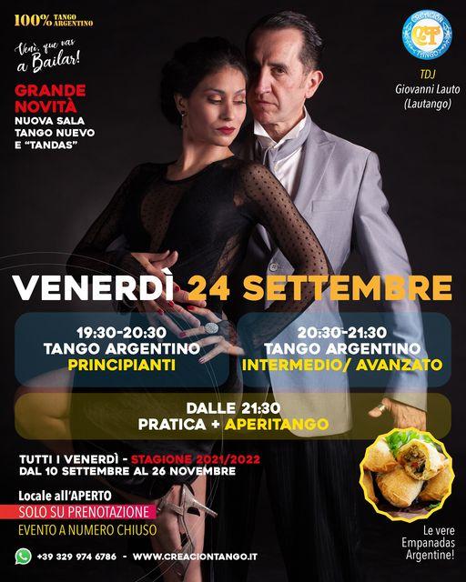 NUOVO APPUNTAMENTO Tango Argentino Venerdì 24 Settembre
