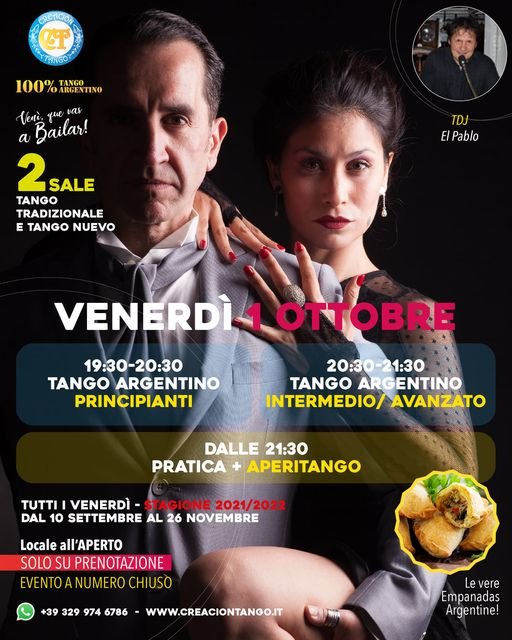 Pratica Tango, Venerdì 1 Ottobre!