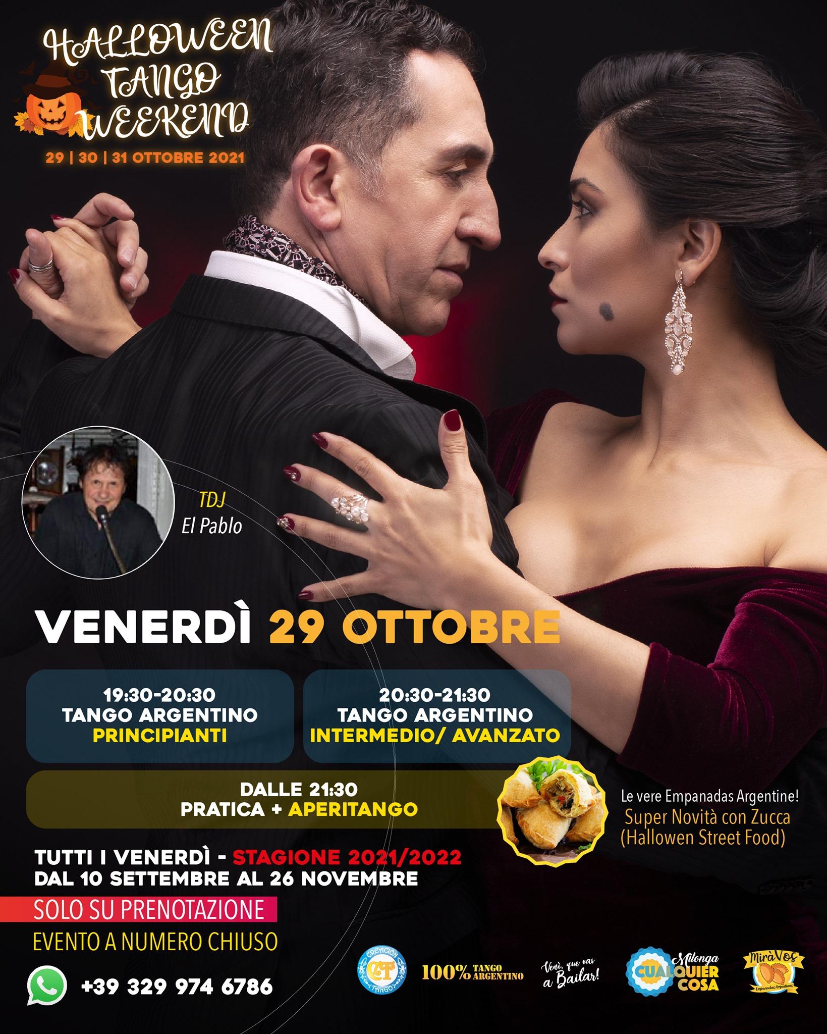 Halloween Tango Weekend 29, 30, 31 Ottobre!